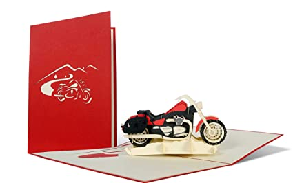 Diese Klappkarten Birthday Card Motorbike Greeting For Motorcycle Lovers Happy Wishes