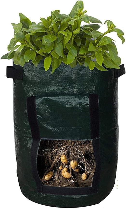 SOME - Bolsas de Cultivo para Plantas de jardín, Verduras y macetas de Tela de aireación Resistente, 2 Unidades, 7 galones, con Cierre de Acceso y Asas: Amazon.es: Jardín
