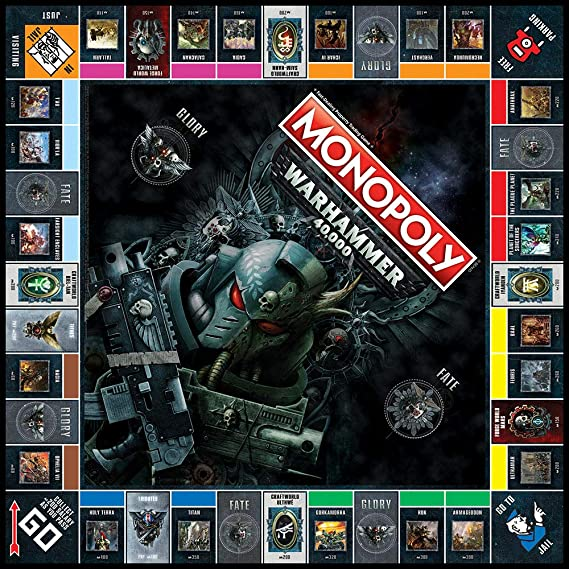USAOPOLY Monopoly Warhammer 40,000 Board Game | Based on Warhammer 40,000  from Games Workshop | Officially Licensed Warhammer 40,000 Merchandise |