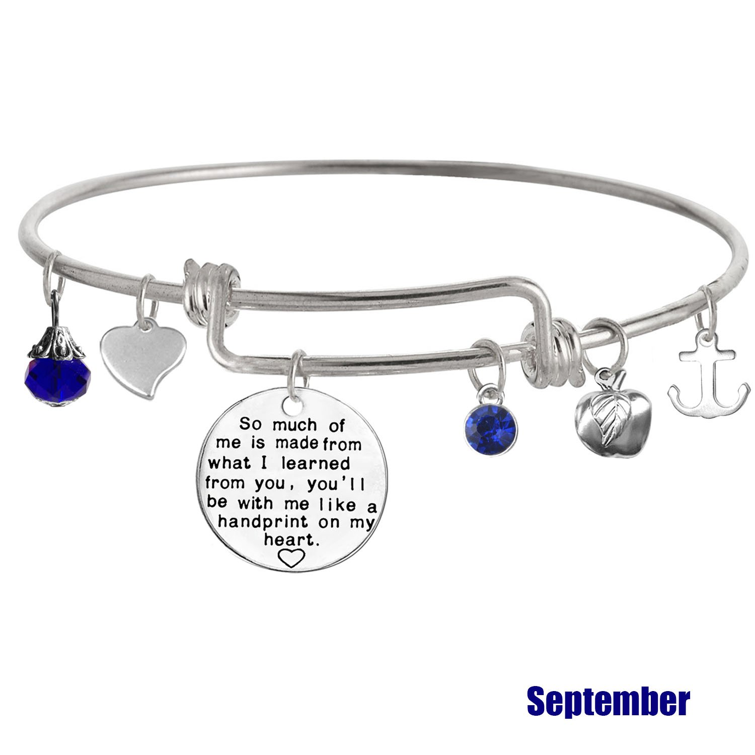 Gift from Student TISDA Graduation Gift,Personalized Teacher Bangle Bracelet,Christmas Gifts for Teacher