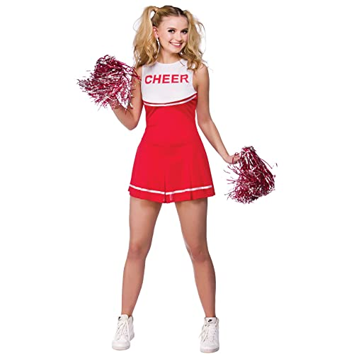 High School Cheerleader Univerity Adult Fancy Dress Small School Costume  sc 1 st  Amazon UK & Ladies Sandy From Grease Cheerleader Fancy Dress Costume Size Small ...
