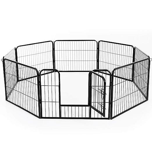 PawHut - Recinto con valla de rejas para cachorros de perro y gato ...
