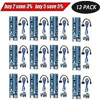Tube d'alimentation SATA 6 broches USB Ptsaying PCIe PCI-E - Unité de montage pour carte graphique - lot de 12