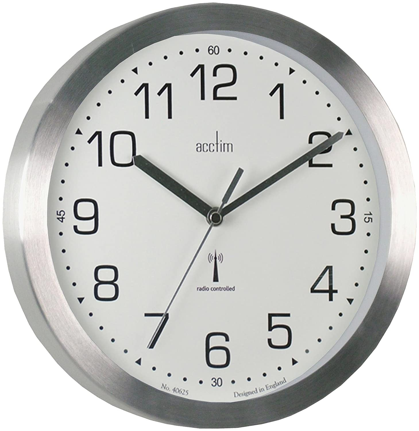 Acctim 74407 mason radio controlled wall clock silver amazon acctim 74407 mason radio controlled wall clock silver amazon kitchen home amipublicfo Image collections