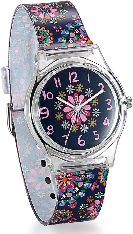 Reloj infantil Avaner de pulsera de cuarzo analógico con esfera digital para niños y niñas con correa de silicona y reloj impermeable