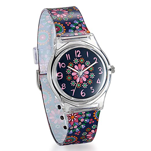 Reloj de niño digital, cuarzo, diseño dibujo de animal, pulsera de gel de sílice, plástico, fantasía, multicolor.: Amazon.es: Relojes