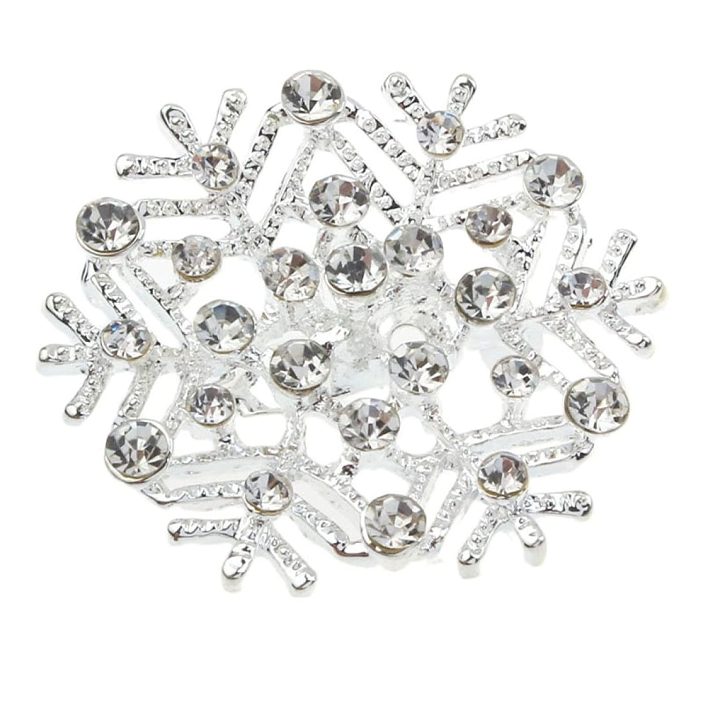 BESSKY Joker Snowflake Brooch Diamond Corsage Brooch Pin Jewelry