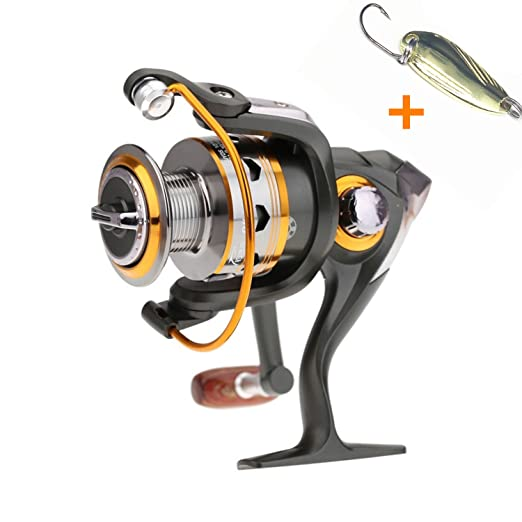 37 opinioni per Bnt- Mulinello per la pesca alla carpa e a spinning, 11BB 5.2:1, in metallo,