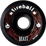 Fireball Beast 76mm Longboard Skateboard Wheels (Set of 4 Wheels) WITH BEARINGS