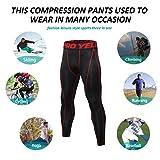 SILKWORLD Men's 2 Pack Compression Pants Baselayer
