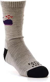 product image for Farm to Feet Kid's Whale Lightweight Crew Merino Wool Socks