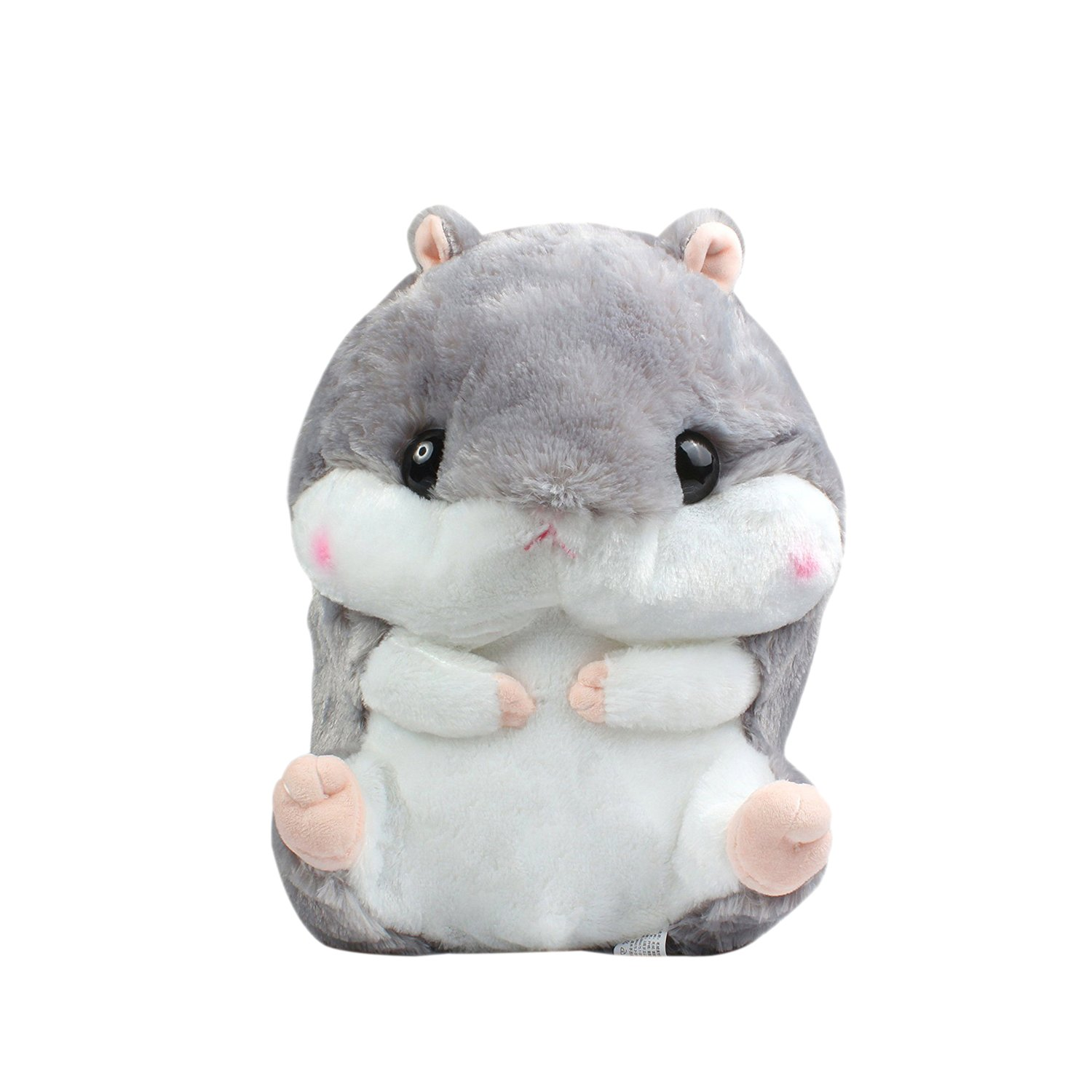Crazy lin Baby Kids Animals Stuffed Doll Soft Plush 1 Hamster Throw Pillow With 1 Blanket (Hamster:15.811.8 inch, Grey) by Crazy lin (Image #2)
