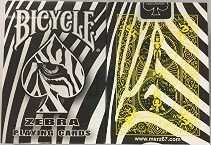 Amazon.com: Raras Bicycle Zebra Deck Playing Cards: Sports ...