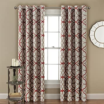 Red Curtains amazon red curtains : Amazon.com: H.Versailtex Thermal Insulated Blackout Window Room ...