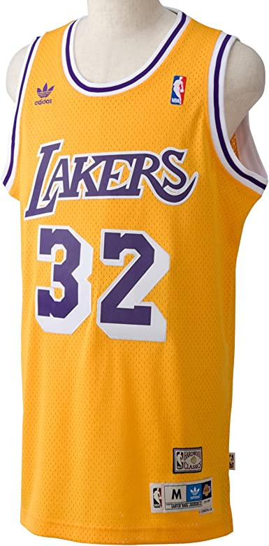 adidas Basketballtrikot Magic Johnson Swingman - Camiseta de Baloncesto para Hombre, Color Amarillo, Talla 2XL: Amazon.es: Ropa y accesorios