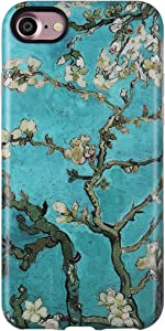 GOLINK Case for iPhone 7 Case/iPhone 8, Matte Finish Art Series Slim-Fit Anti-Scratch Shock Proof Anti-Finger Print Flexible TPU Gel Case for iPhone 7/iPhone 8- Almond Tree