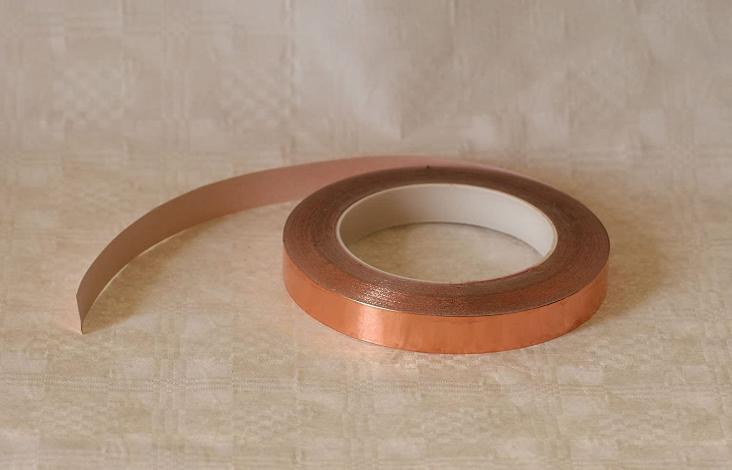 Tape Adhesive Copper 10  MTR ROLL, 9 mm, 1 Blechmaennle