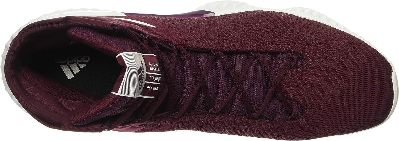 Adidas Originals Pro Bounce 2018 Chaussure de basket-ball pour homme Grenat Blanc Marron