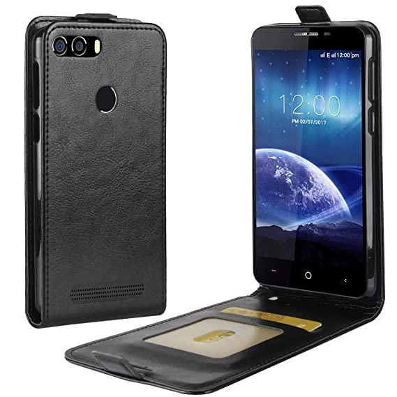 buy popular 42303 087a9 Amazon.com: LEAGOO Kiicaa Power Case,Manyip PU Leather Stand Wallet ...