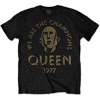 e80e55dd6 Queen We Are The Champions Freddie Mercury Official Tee T-Shirt Mens Unisex  (Small