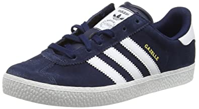 adidas Gazelle 2, Baskets Basses Mixte Enfant, Bleu (Collegiate Navy FTWR White)