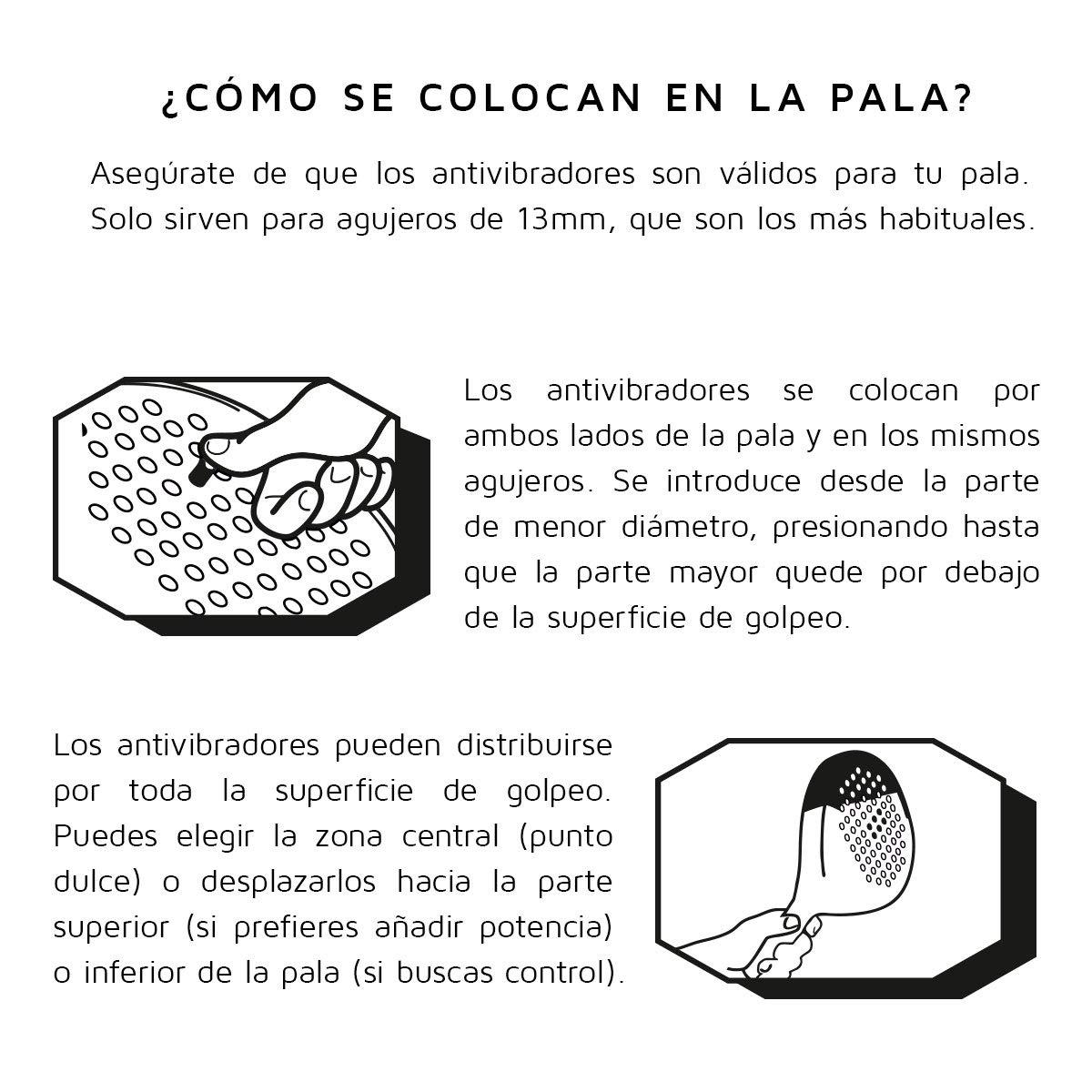 VARLION Shock out Negro Antivibrador, Pala de Padel, Adultos ...