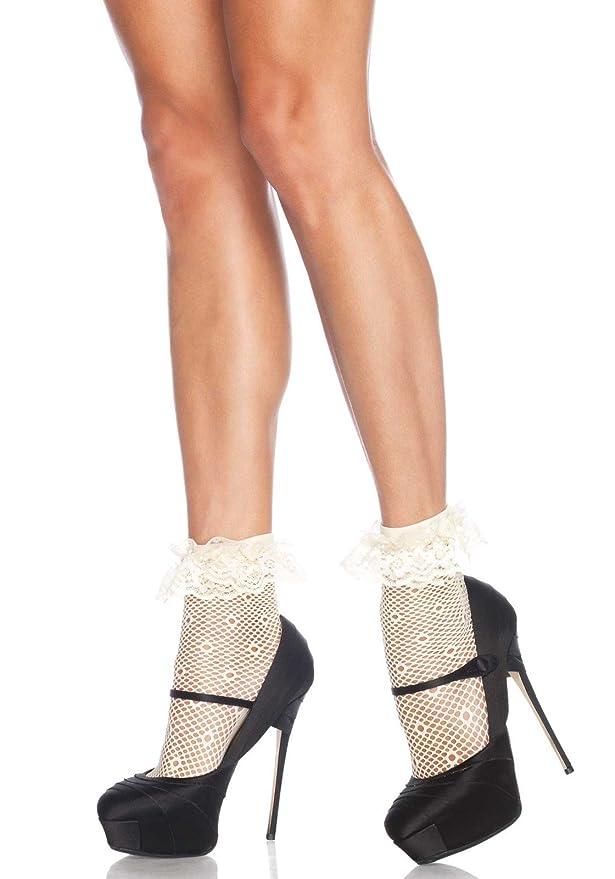 1950s Socks- Women's Bobby Socks Leg Avenue Womens Daisy Dot Anklet Socks $4.95 AT vintagedancer.com