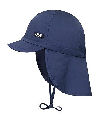 D/öll Baby-M/ädchen Bindem/ütze mit Schirm und Nackenschutz Sonnenhut