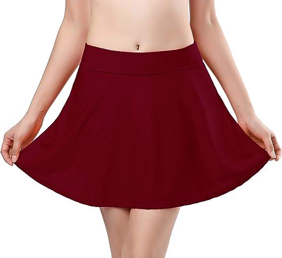 TALLA S. SHEKINI Mujer Corto Falda de baño con Pantalones de Bikini Elástica Corto Natación