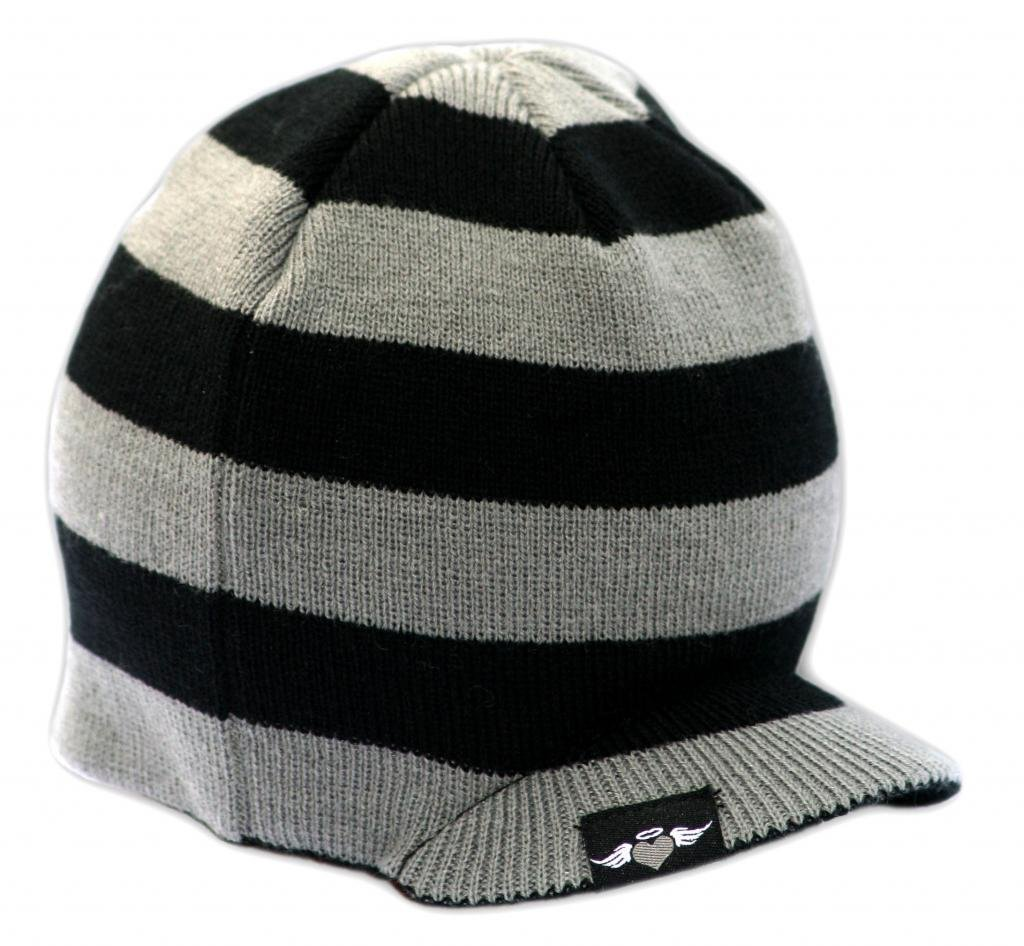 d4de7400e37 Galleon - Born To Love - Baby Boy s Stripe Visor Beanie With Tag Baby Hat  (L (4 Yrs And Up)