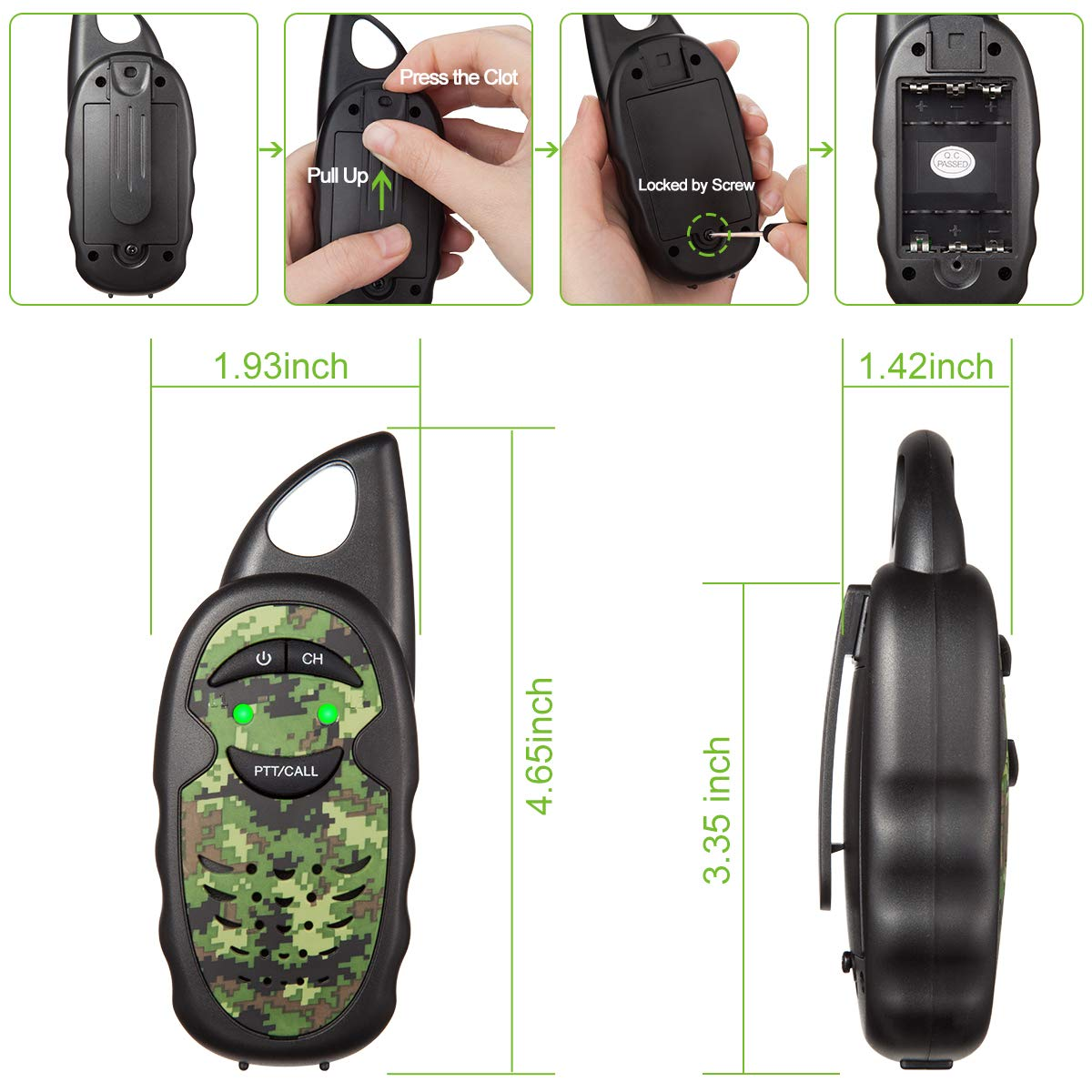 Walkie Talkies for Kids with Binoculars, 2 Mile FRS Technology 2 way radio Toy, Easy to Use for Little Hands Walkie Talkies for Boys, Walkie Talkie Set with Kids Binoculars,Best Toys Gifts for Kids by inYYTer (Image #3)