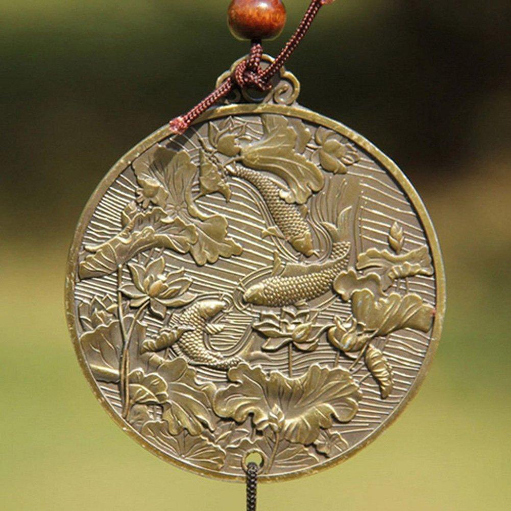 wuudi M/étal Wind Chimes D/écoration ext/érieure en m/étal Vent Bell avec Animaux Mythiques Chinois monocouche