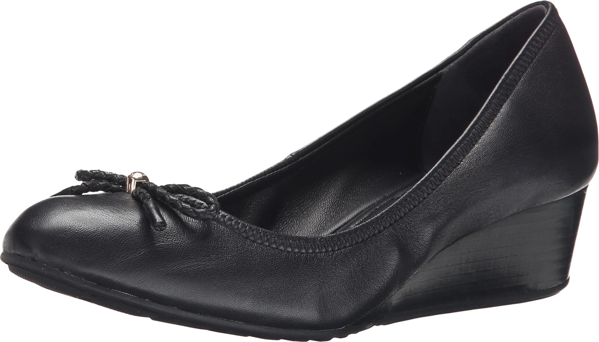 Cole Haan Women's TALI GRAND LACE WEDGE 40 Shoe, Black, 8 2A US