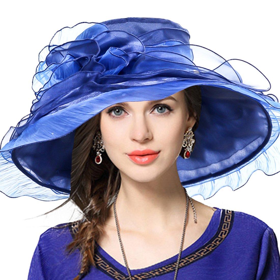 Rufflebluee JESSE · RENA Women's Church Derby Dress Fascinator Bridal Cap British Tea Party Wedding Hat
