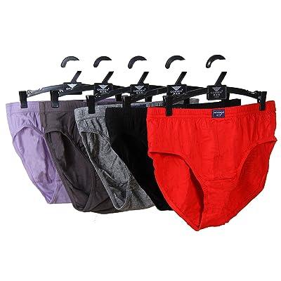D&P Men's 5-Pack Low Rise Briefs Classic Sport Underwear