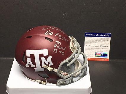 f62a1021141 Amazon.com  Josh Reynolds Signed Texas A M Football Mini-Helmet  2 ...