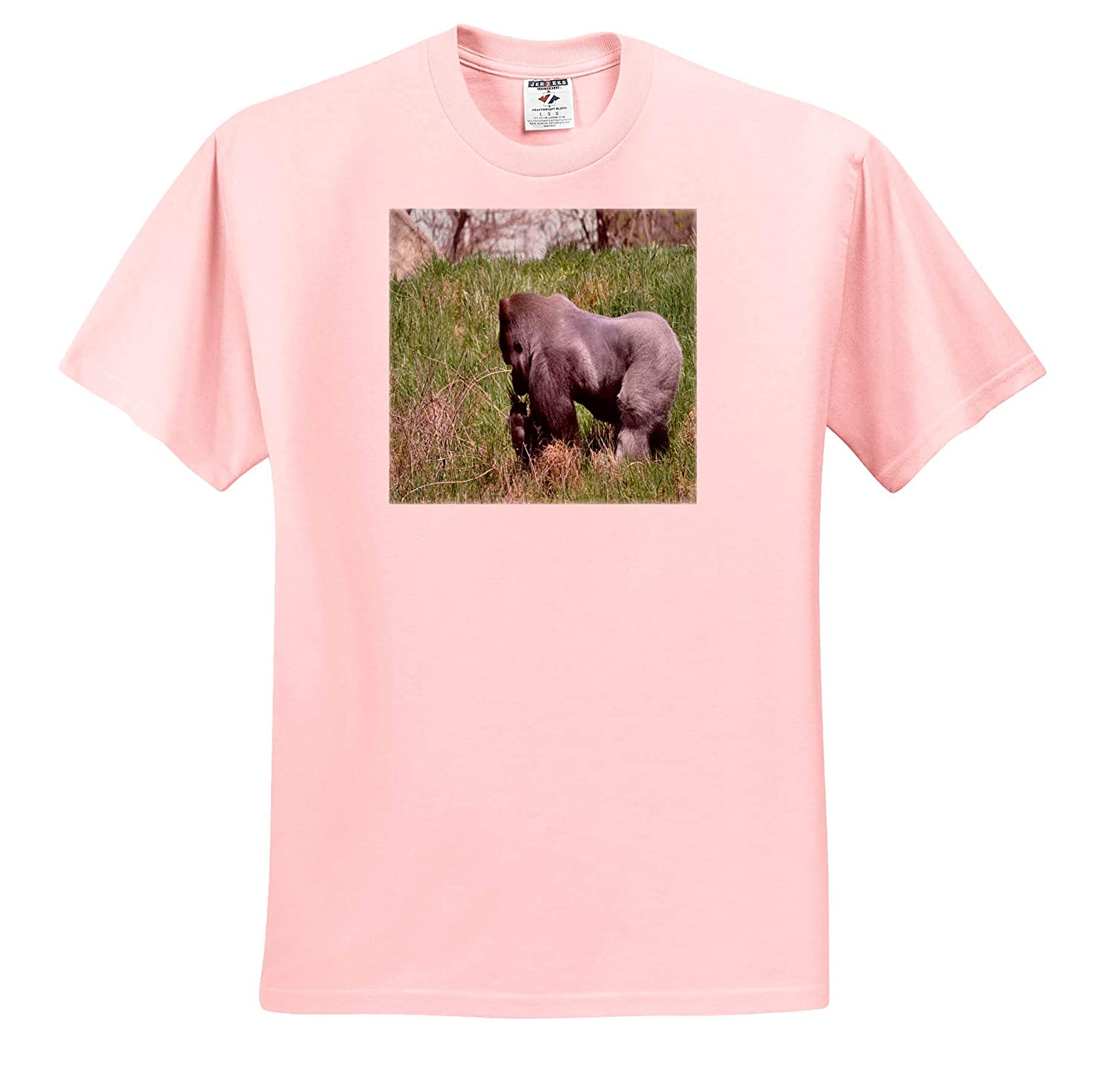 Silverback Gorilla Smelling The Grass ts/_314299 Adult T-Shirt XL Animals 3dRose Dreamscapes by Leslie