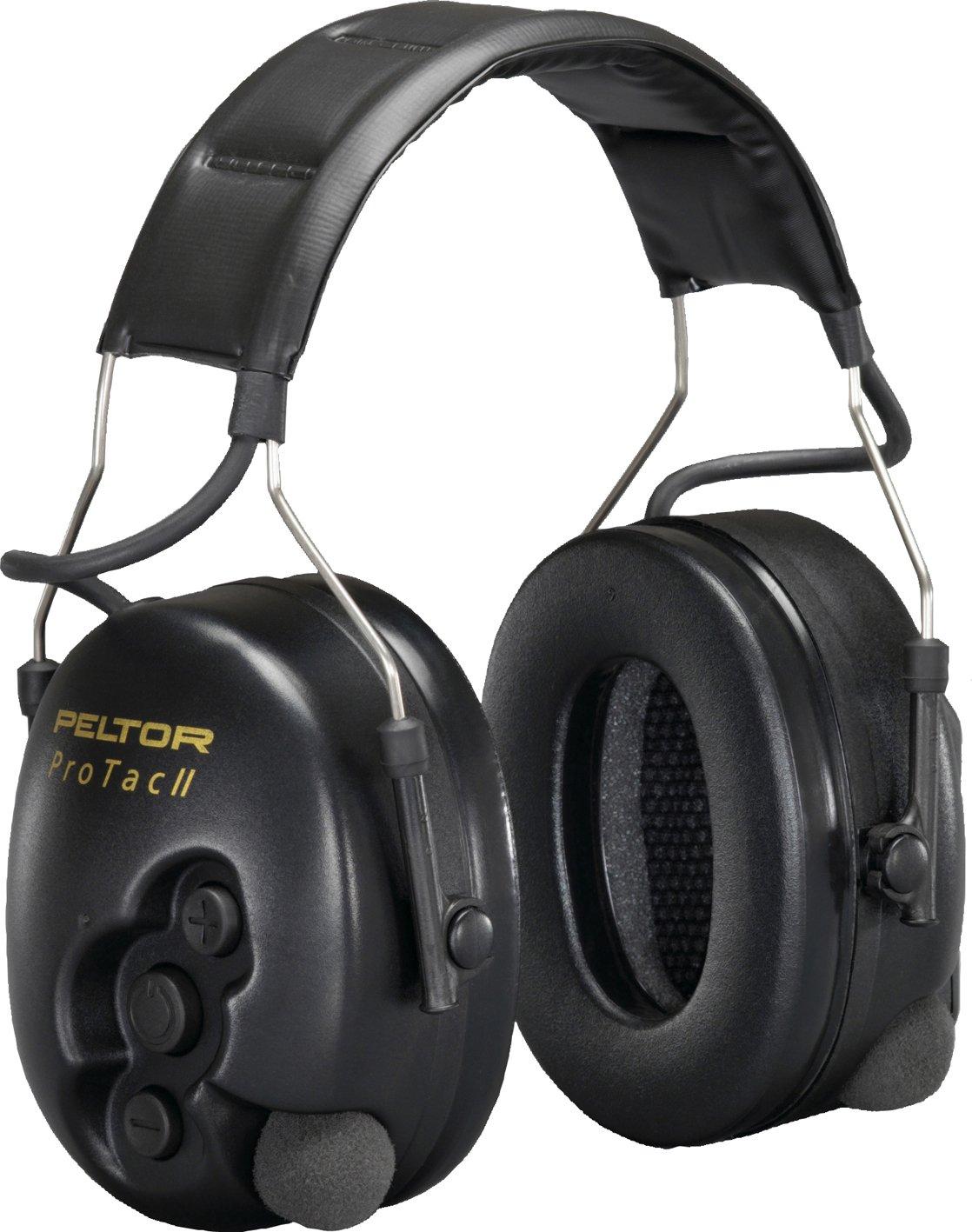 3M PELTOR ProTac II Ear Defender Headband Level Dependant 32 db Black MT15H7A2 SV