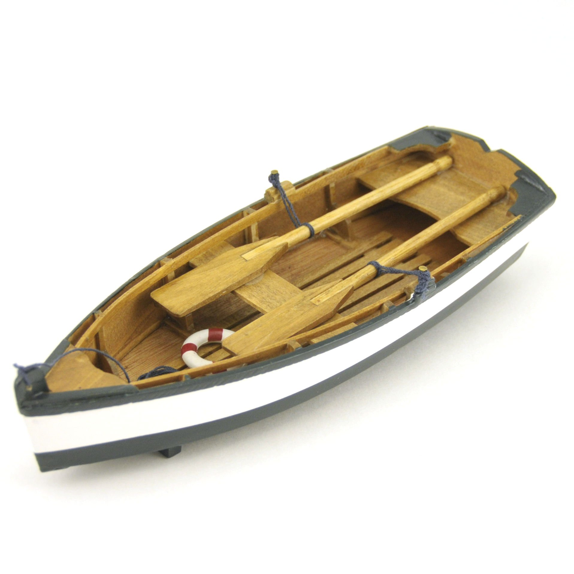 Wood Crafted Row Boat Model Replica Collectible, 8.5-inch, Nautical Decor, Green by Nautical Collection