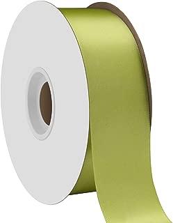 "product image for Offray Berwick 1.5"" Single Face Satin Ribbon, Lemon Grass Green, 50 Yds"