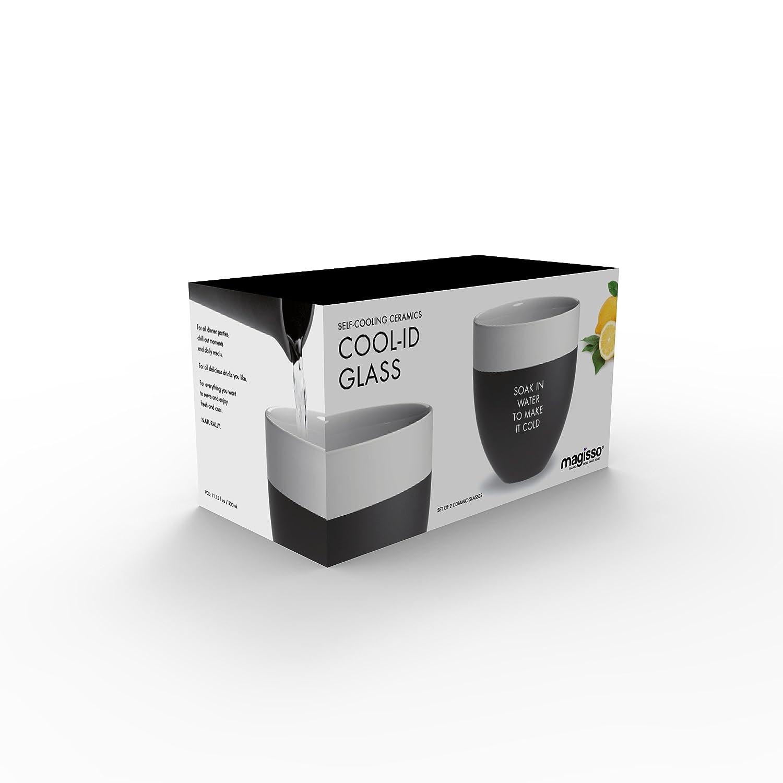 Magisso Cool-ID Glass White 2 pcs Keramik Black 9.7 cm 2-Einheiten