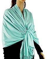 "Paskmlna Large Solid Color Pashmina Shawl Wrap Scarf 80"" X 27"""