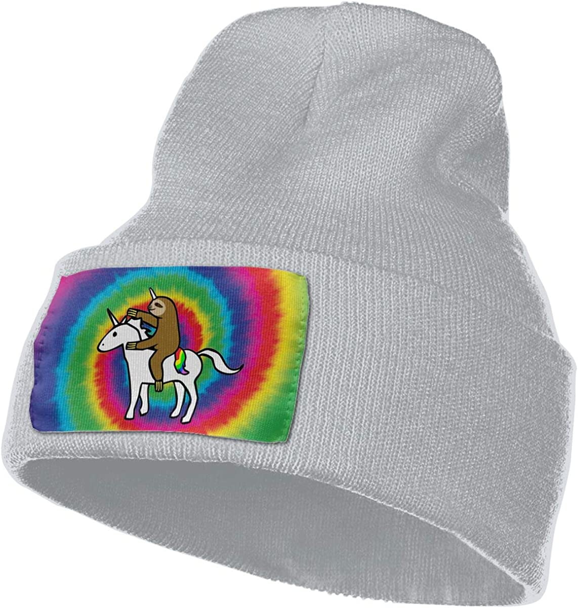 Funny Sloth Riding Unicorn Winter Beanie Hat Knit Skull Cap for for Men /& Women