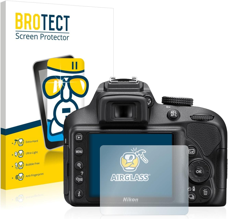 BROTECT Protector Pantalla Cristal Compatible con Nikon D3400 ...