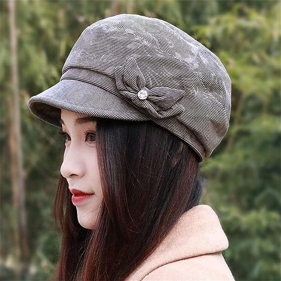 b92198d447dba ... Holiday gifts Women WOMENS HAT children autumn Beret British fashion hat  thin breathable peaked cap cap cap adjustable mother fashion,M (56-58cm),Deep  ...