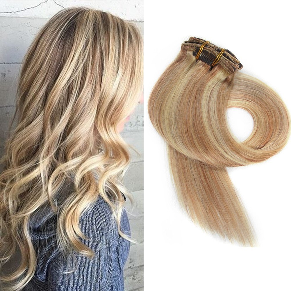 Amazon Myfashionhair Clip In Hair Extensions Real Human Hair