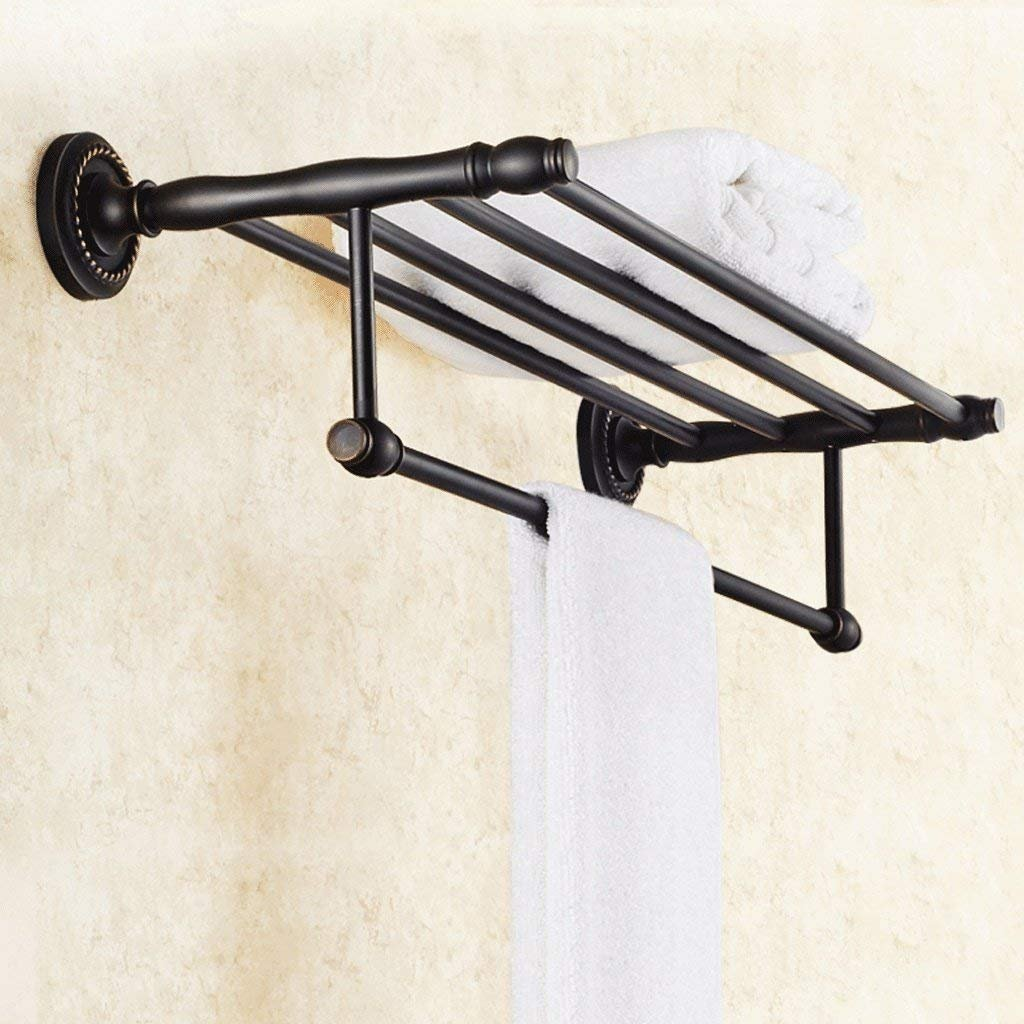 JU Handtuchhalter europäischen Bad Handtuchhalter voll von Kupfer antiken Handtuchhalter schwarz Badezimmer Racks Hardware Anhänger B07JK4Z2LN | Verschiedene Arten Und Die Styles