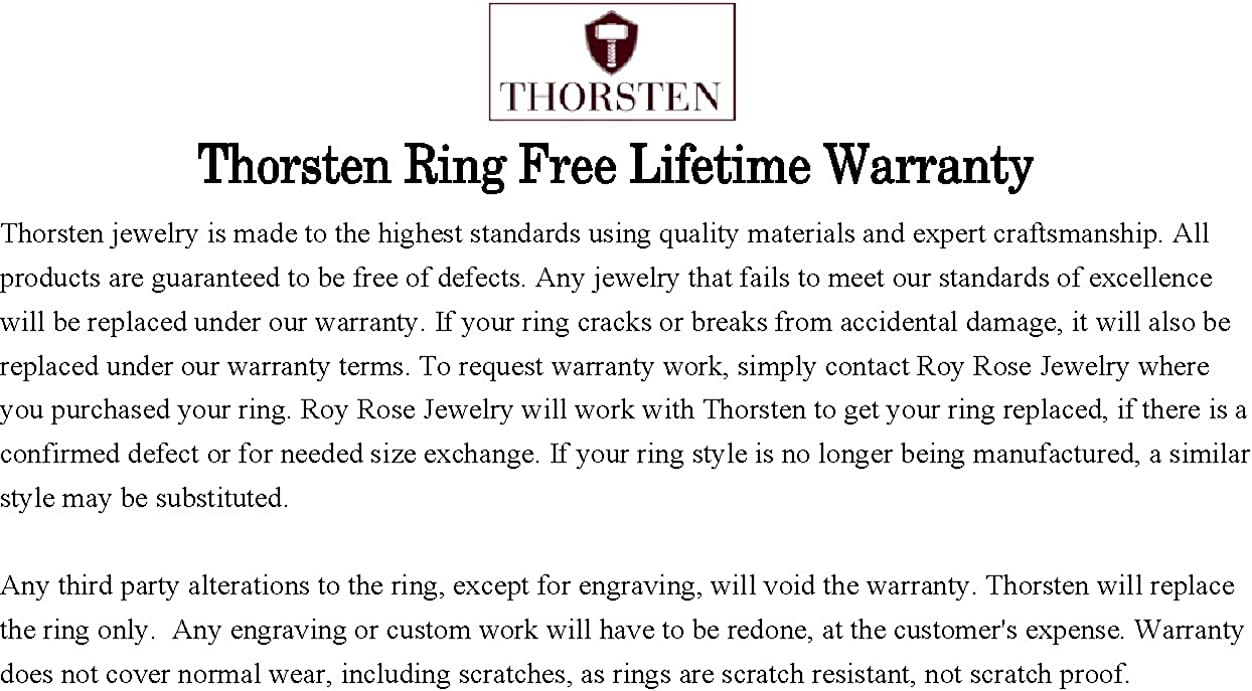 Thorsten Animal Horseshoe Horse Shoe Equestrian Print Pattern Ring Black Tungsten Ring 6mm Wide Wedding Band from Roy Rose Jewelry