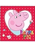 Peppa Pig serviettes en Papier, 33x 33cm, 16pièces