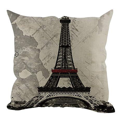 Funda de cojín con diseño de torre Eiffel, estilo moderno ...
